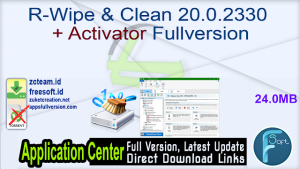 R-Wipe & Clean 20.0.2330 Crack With Registry Key [Latest] 2021